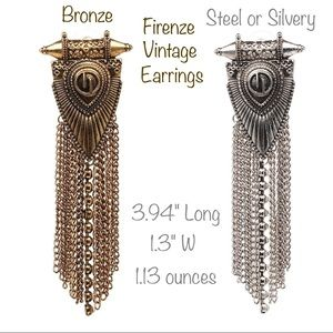 "Jewelry - 💎2/$45💎NWT EARRINGS - ""FIRENZE"" ancient-looking"